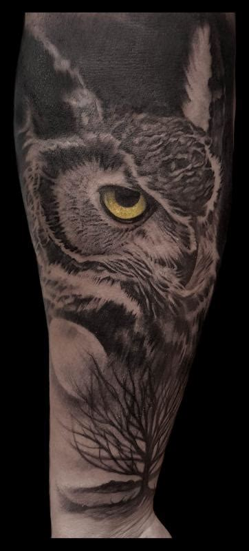owl and moon tattoo owl and moon by caleb tattoonow