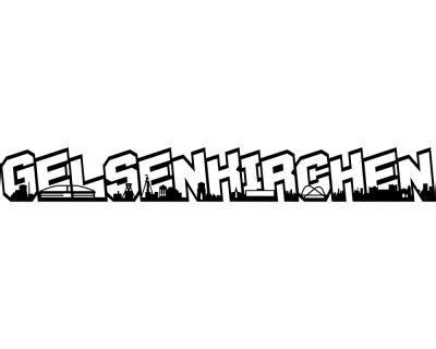 Autoaufkleber Schalke 04 by Autoaufkleber Gelsenkirchen Schriftzug Skyline Aufkleber