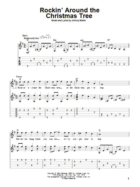rockin around the christmas tree guitar tab by brenda lee