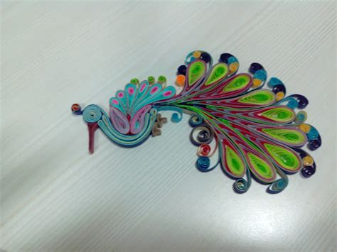 How To Make Paper Quilling Peacock - paper quilled peacock devika crafts