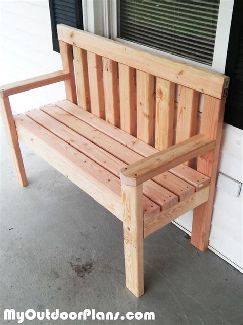 diy simple garden bench myoutdoorplans