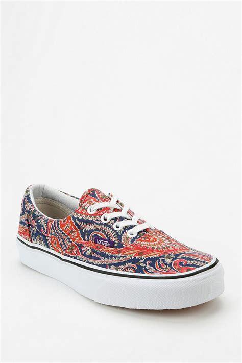 patterned vans womens vans x liberty london era paisley print women s sneaker