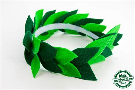 laurel leaf crown template diy laurel leaf crown