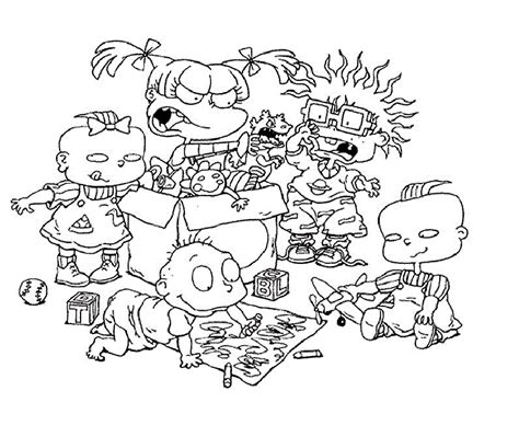 the rugrats coloring pages coloring home