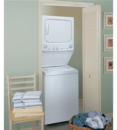 "GE 27"" Spacemaker Stack Washer & Dryer   GUD27GSSJWW"