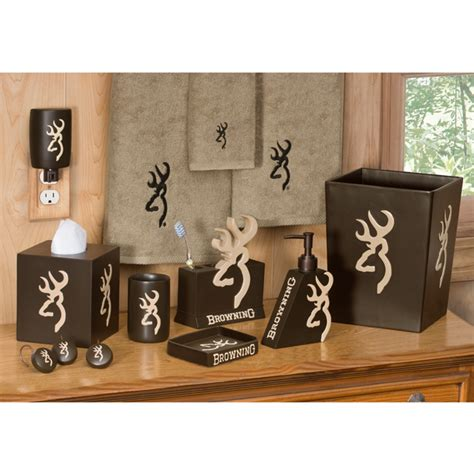 browning home decor browning buckmark bathroom set and accessories camo trading