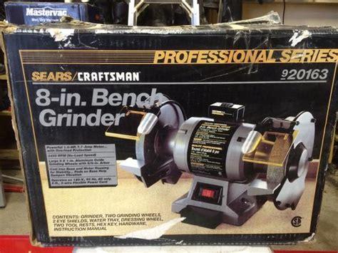 8 inch 1 hp craftsman bench grinder victoria city victoria