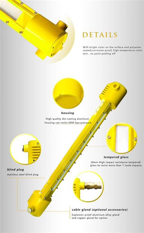 proof led light dl618e 40w with emergency function led explosion proof