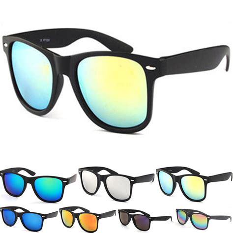 cool l shades classic mirrored wayfarer sunglasses cool shades uv400 mens unisex ebay