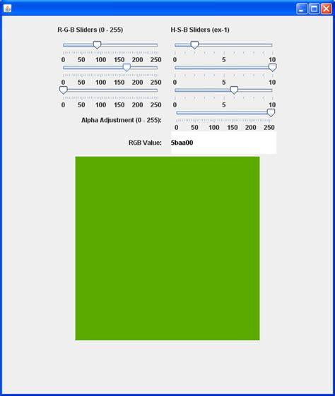 java swing slider slider change event jslider 171 swing 171 java tutorial