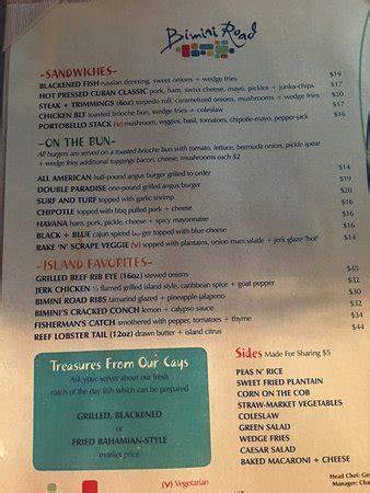 bimini road, nassau marina vlg restaurant reviews