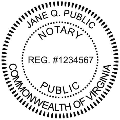 virginia notary embosser notary net