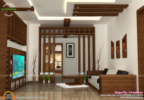 kerala home design interior living room wooden finish interiors kerala home design and floor plans