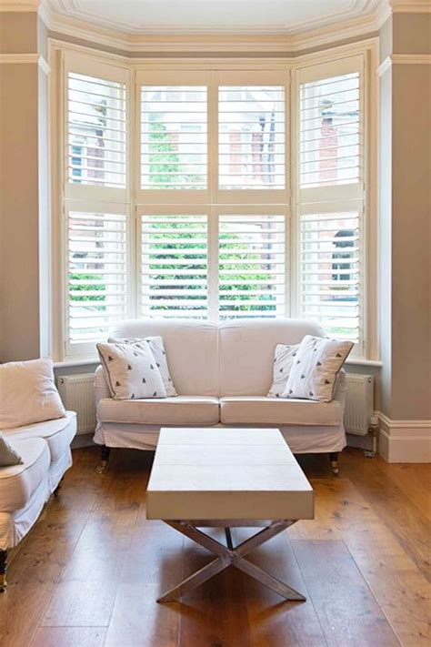 living room shutters interior 25 best ideas about bay window blinds on bay windows diy bay window blinds and bay