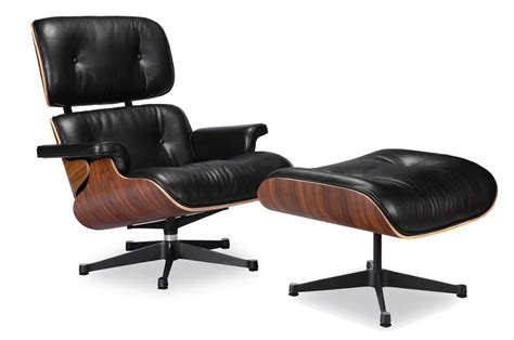 Outdoor Chair And Ottoman Set Eames Lounge Chair Vitra Black Manhattan Home Design