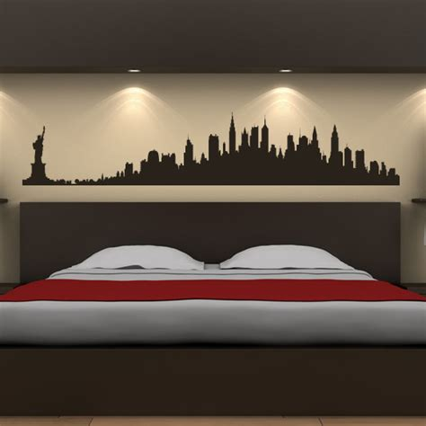 new york skyline wall sticker new york city skyline wall stickers america usa places wall decal transfers