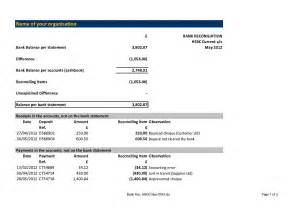 Reconciliation Report Template checking account reconciliation worksheet abitlikethis
