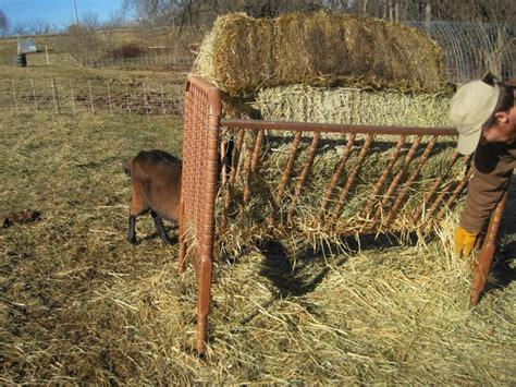 Baby Crib Water Feeder A Hay Feeder From An Baby Crib Animals Hay Feeder