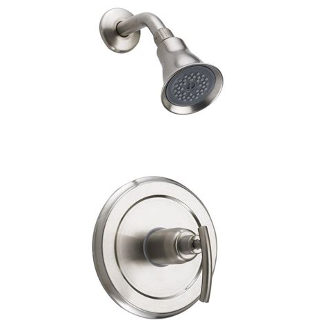 Bathroom Shower Valve Central Brass 1 Spray Cast Brass Utility Shower Faucet In Brass 0477 The Home Depot