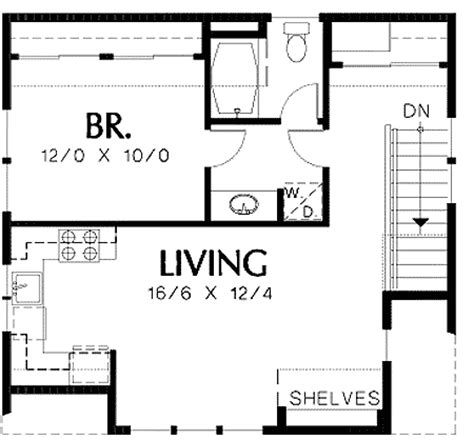 one car garage apartment floor plans