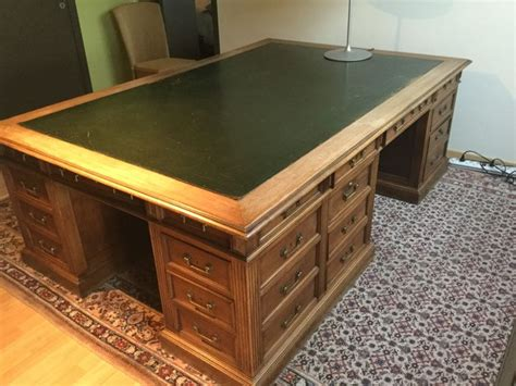 large work surface desk notary desk with large work surface 19th