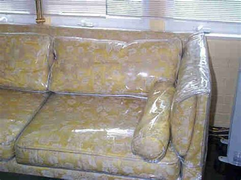 plastic covered couch bbem household items item