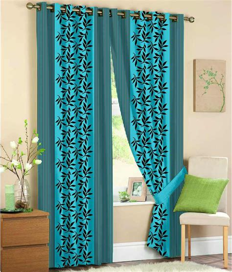 fabric door curtain fabric nation blue polyester floral door curtain buy