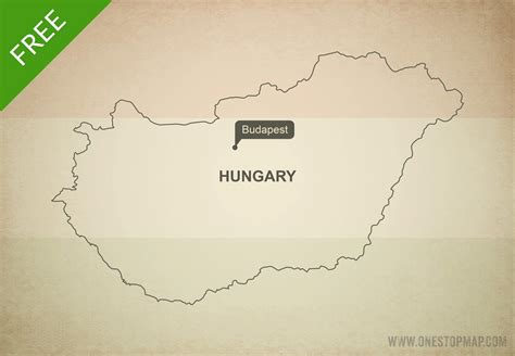 hungary map vector free vector map of hungary outline one stop map