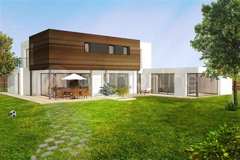 Plan De Maison Moderne by Plan De Maison Moderne Avec 233 Tage Archionline