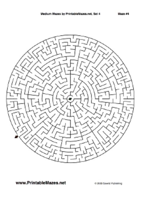 printable mazes intermediate medium mazes set 4 quot intermediate quot