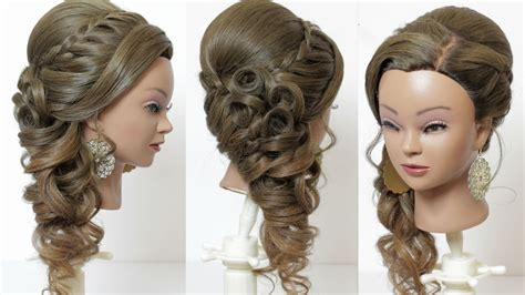 Wedding Hairstyles Braids Curls by Indian Bridal Hairstyle For Hair Tutorial With