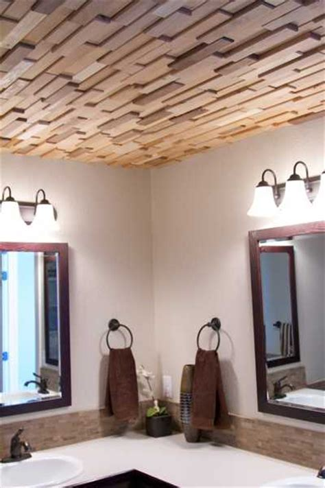 bathroom wood ceiling ideas reclaimed wood wall tiles modern wall decorating ideas