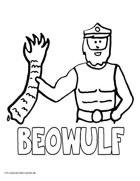 The Gallery For Gt Beowulf Drawings Beowulf Coloring Pages