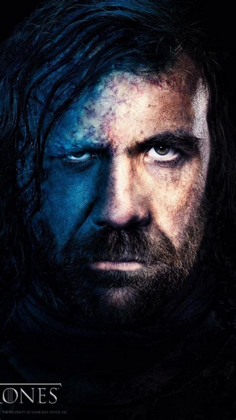 game  thrones tv series faces  hound wallpaper