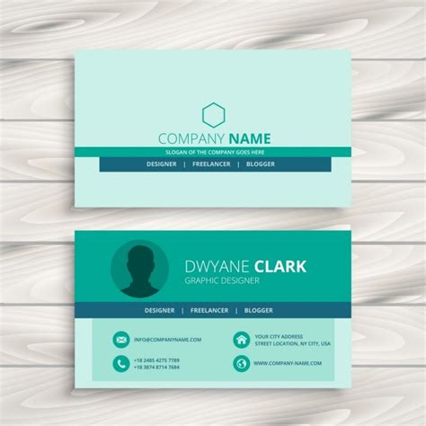 simple business card template simple business card template vector free