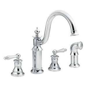 moen showhouse kitchen faucet 2018 moen showhouse s712 waterhill two handle kitchen faucet with matching side spray chrome