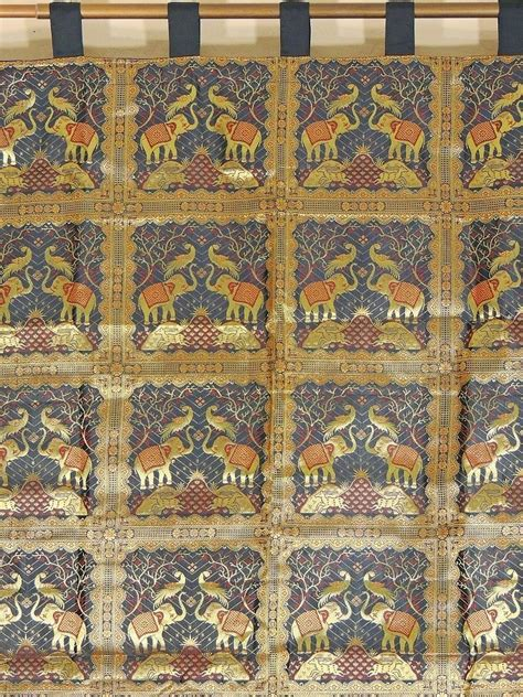 black and gold curtain fabric luxury brocade fabric curtain black gold elephant window