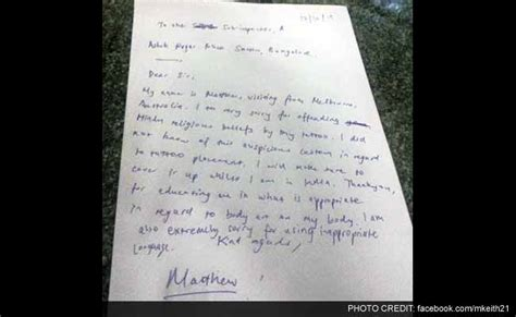 Apology Letter To Officer Australian Harassed Forced To Apologise In Bengaluru Goddess