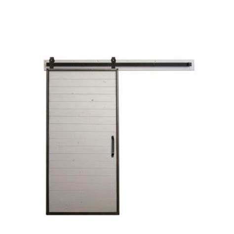 rustica hardware 42 in x 84 in mountain modern white