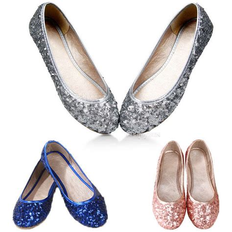 flat sparkly shoes glitter sparkly sequins flat ballet shoes flats