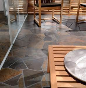 Stepping stone kitchen floor rustic new york by