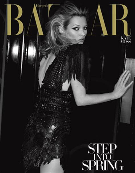 Kate Turns For Us Harpers Bazaar by S Bazaar March 2010 Kate Moss Vs