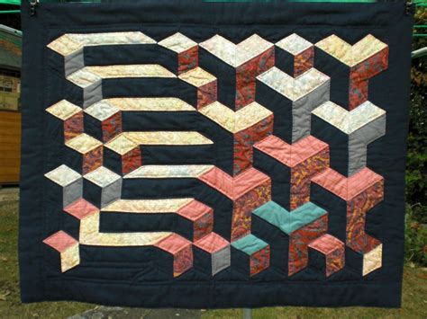 Tumbling Blocks Patchwork - block patchwork tumbling cake ideas and designs