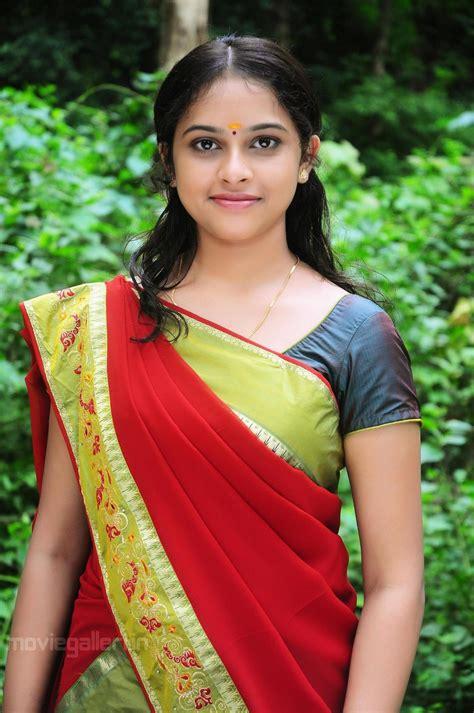 telugu heroines photos in saree telugu actress sri divya in saree stills photo gallery