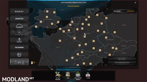 Mercedes Dealer Locations by Save Unlock All Dealer No Dlc Mod For Ets 2