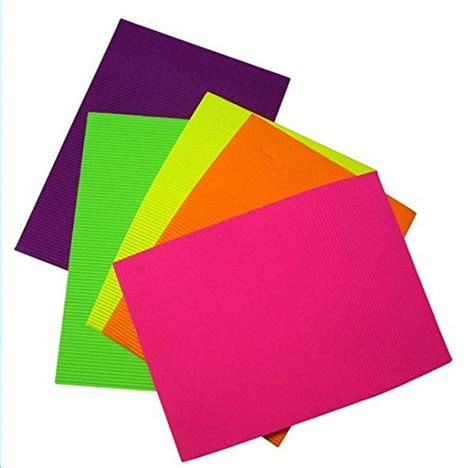 Corrugated Paper Craft - zap impex 174 pack of 10 a4 size neon colored corrugated