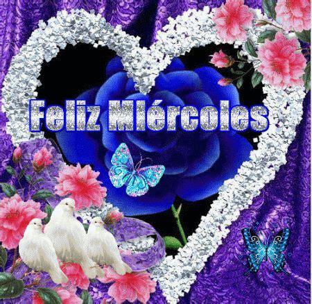 Imagenes Con Movimiento De Feliz Miercoles   bonita imagen de corazon con movimiento palomas y flores