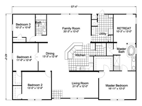 american freedom triplewide manufactured home floor plan