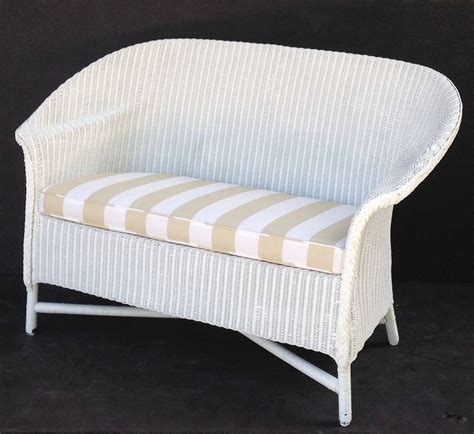 lloyd loom sofa with cushion seat at 1stdibs