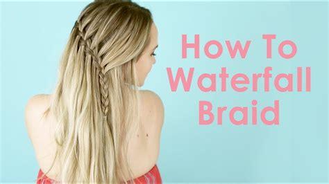 youtube tutorial waterfall braid how to waterfall braid hair tutorial for beginners